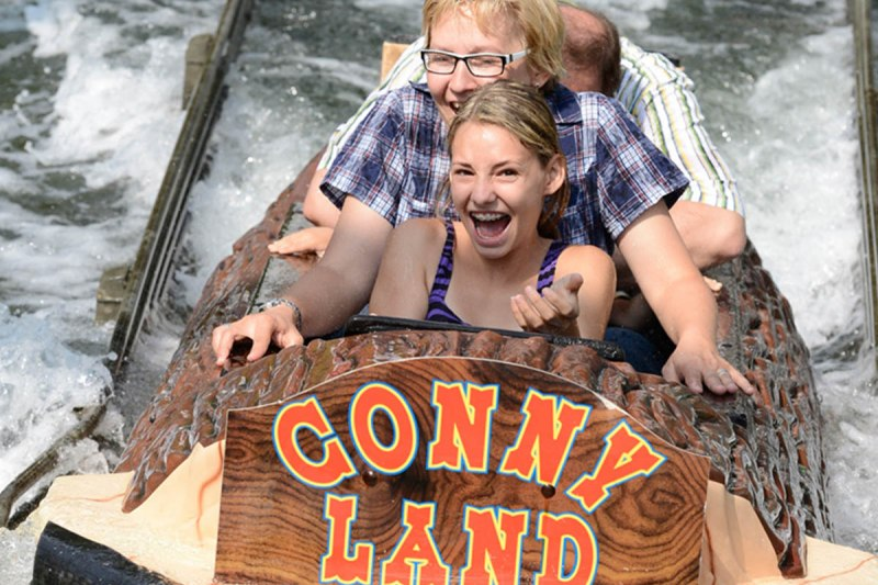 Wildwater ride in Conny-Land
