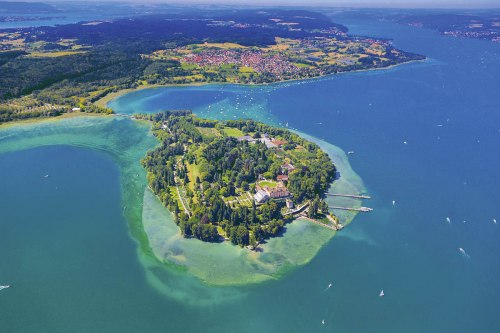 Aerial view of Mainau island