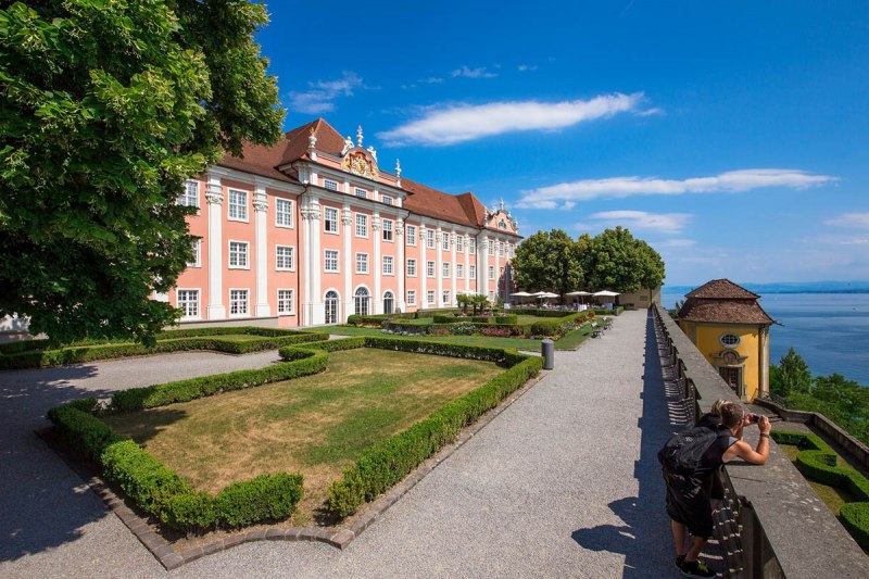 Meersburg New Palace with a view of Lake Constance