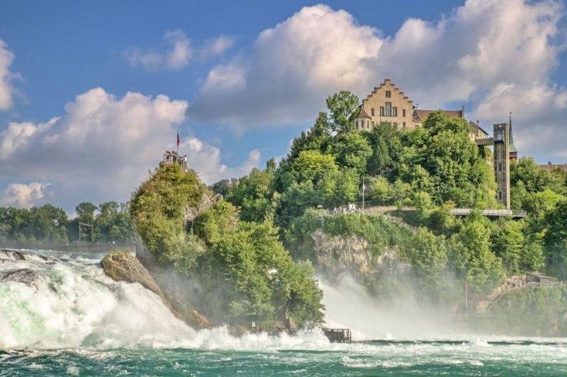 Rheinfall Einer Der Grossten Wasserfalle Europas