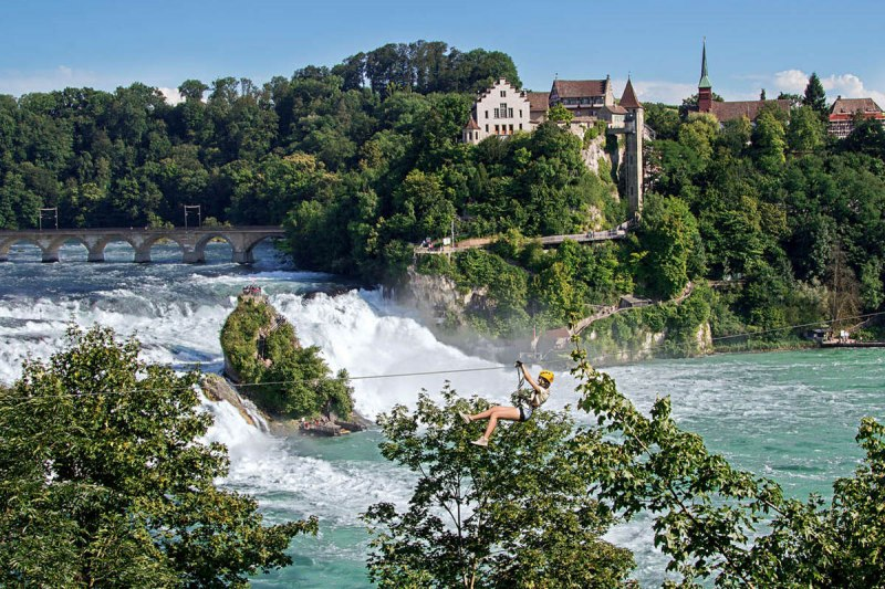 The Rheinfall are a grandiose natural spectacle