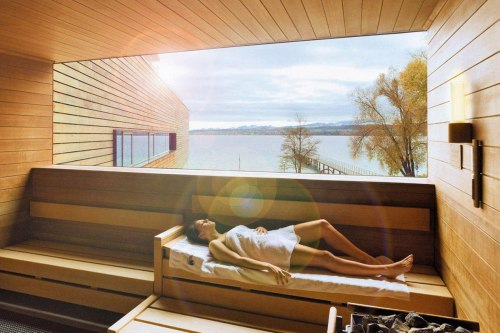 One of the many saunas in the Bodensee-Therme Konstanz