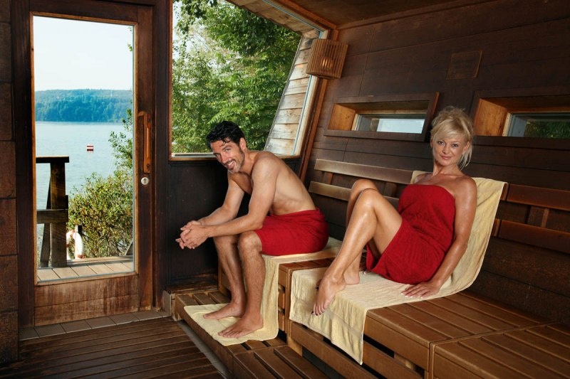 From the sauna you can have a direct view of Lake Constance