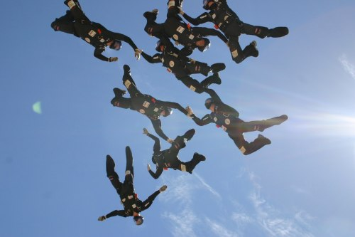 8 formation during skydiving