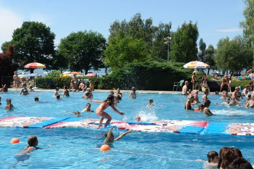 Swimming in the lido Eriskirch