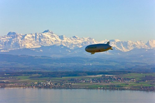 Zeppelin flight over Friedrichshafen