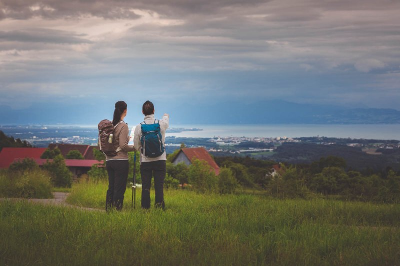 A hike into the surrounding countryside of Markdorf offers itself, not only because of this view