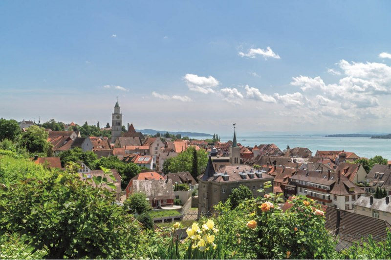 View of Überlingen and Lake Constance