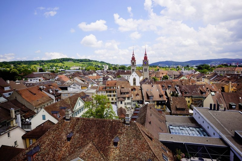 A view of the oldtown Winterthur